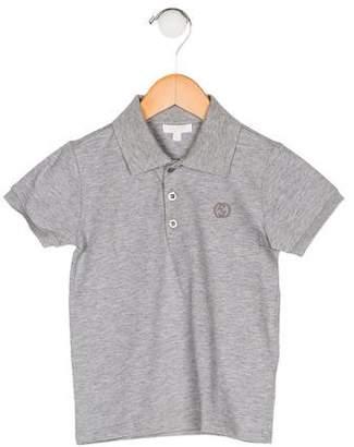 Gucci Boys' Collar Short Sleeve Shirt