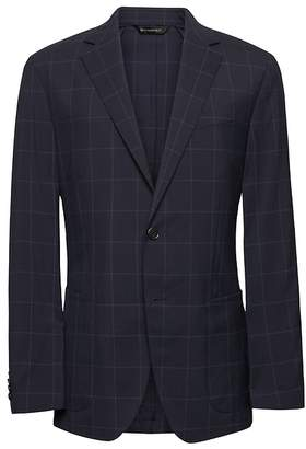 Banana Republic Slim Navy Smart-Weight Performance Wool Blend Suit Jacket