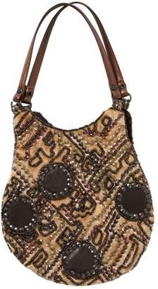 Jamin Puech Camel Velvet Clutch Bag