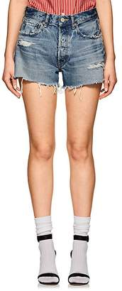 Moussy Women's Chester Distressed Cutoff Denim Shorts