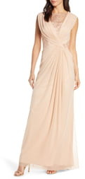 Tadashi Shoji Mesh & Corded Lace Gown