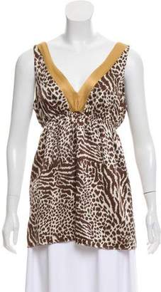 Alice & Trixie Cheetah-Zebra Print Sleeveless Top