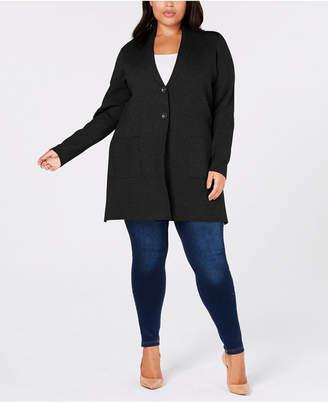 Charter Club Plus Size Sweater Blazer