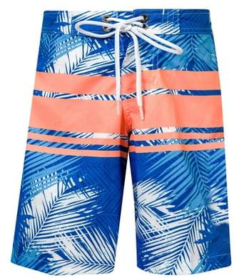 Snapper Rock Tropical Neon Stripe Board Shorts