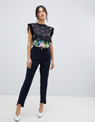 Ted Baker Rivaat Skinny Trousers with Stepped Hem