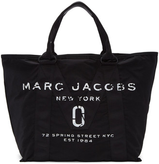 Marc Jacobs Black Large New Logo Tote $225 thestylecure.com