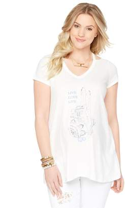 Wendy Bellissimo Motherhood Maternity Screen Print Maternity Top