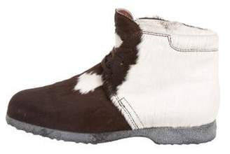 Tod's Ponyhair Lace-Up Booties