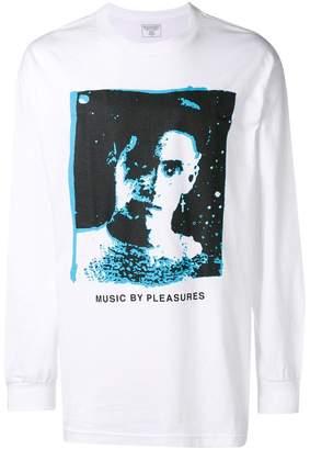 Pleasures Music print longsleeved T-shirt