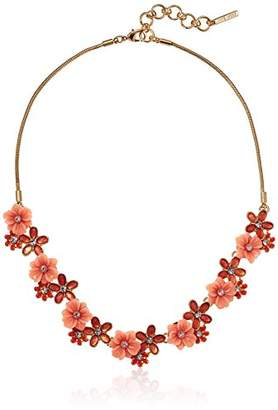 """Nine West Women's Gold-Tone and 16"""" Flower Necklace"""