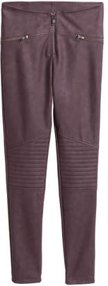 H&M Biker Leggings - Red