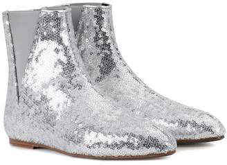 Loewe Sequined ankle boots