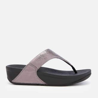 FitFlop Women's Lulu Molten Metal Toe Post Sandals - Pewter