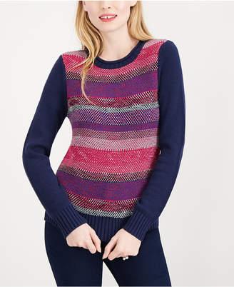 Maison Jules Striped Crew-Neck Sweater