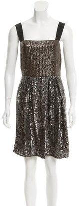 Reiss Sequin-Embellished Sleeveless Dress $75 thestylecure.com