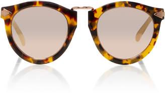 Karen Walker Harvest Rose Gold-Tone Metal and Tortoiseshell Acetate Sunglasses
