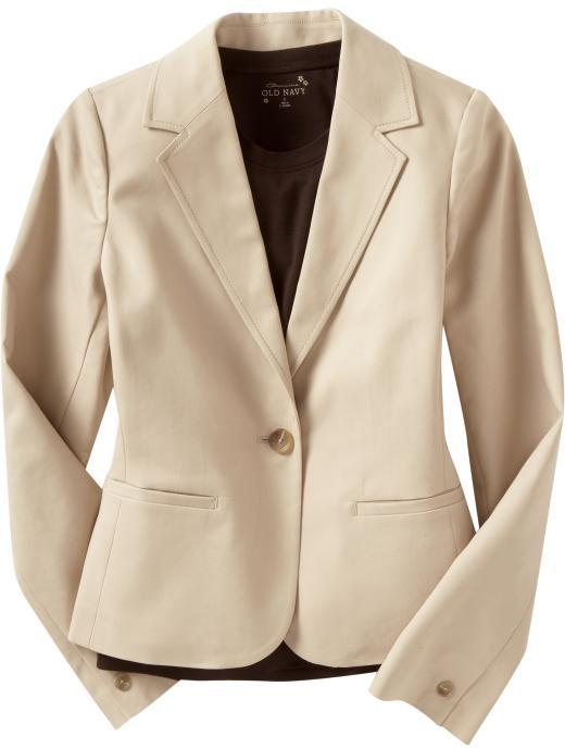 Women's Cotton Twill One-Button Blazers