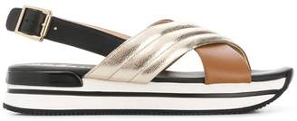 Hogan slingback sandals