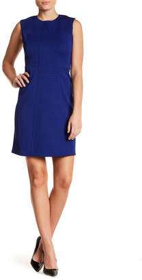 London Times Novelty Mini Chicklet Fit and Flare Dress