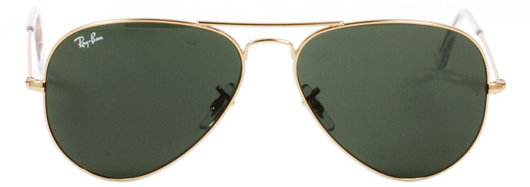 Aviator Large Metal 58 mm Sunglasses in Gold L0205 - by Ray-Ban