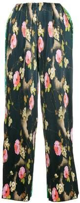 Richard Quinn floral print palazzo trousers