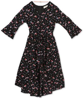 Speechless Big Girls Floral-Print Dress & Necklace