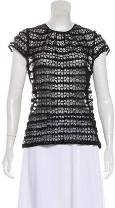 Milly Mesh Short Sleeve Top