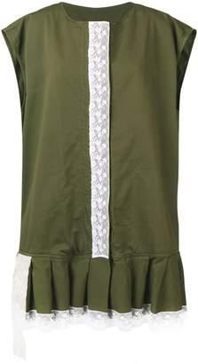 MM6 MAISON MARGIELA lace trim dress