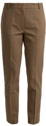 Joseph Zoomy Puppytooth Trousers - Womens - Beige Multi