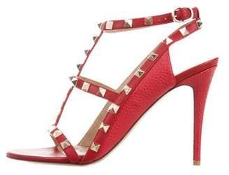 Valentino Leather Rock-Stud Sandals
