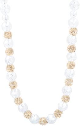 """Judith Ripka Verona 14K Gold Beaded 18"""" Necklace"""