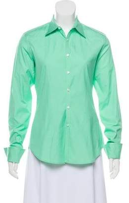 Ralph Lauren Black Label Long Sleeve Button-Up Top