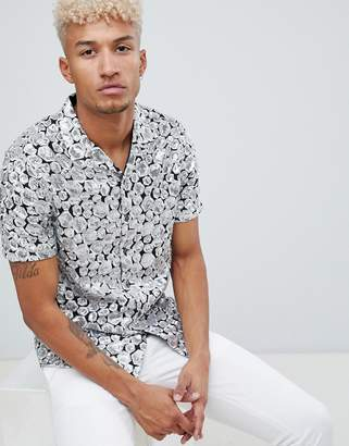 Asos EDITION regular fit sequin geo shirt in silver