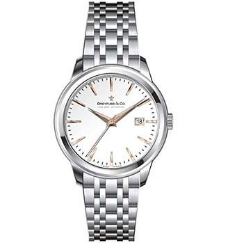 Dreyfuss & Co Dreyfuss Womens Analogue Classic Quartz Watch with Stainless Steel Strap DLB00125/06