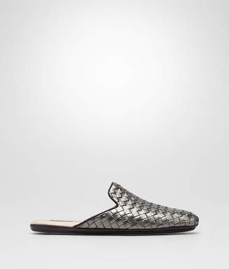 Bottega Veneta ARGENTO ANTIQUE INTRECCIATO FURROW METAL FIANDRA SLIPPER