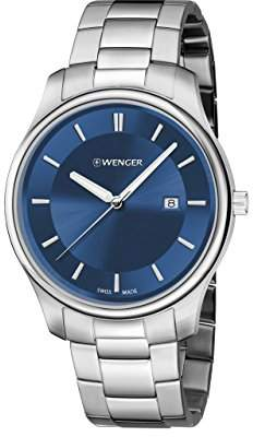 Wenger Men's 'City Classic' Swiss Quartz Stainless Steel Casual Watch