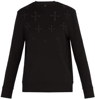 Neil Barrett Cross-embroidered sweatshirt
