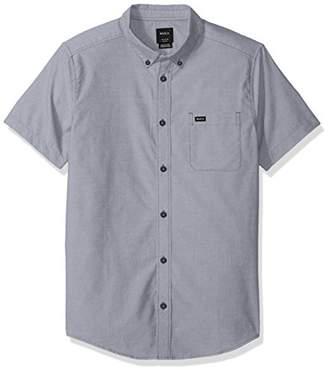 RVCA Men's Oxford Short Sleeve Button Down Shirt