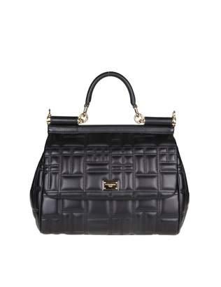 Dolce & Gabbana miss Sicily Hand Bag In Nappa Matelasse Color Black