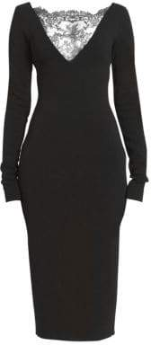 Givenchy Lace Yoke Evening Sheath Dress