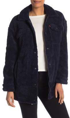 Levi's Oversized Faux Fur Trucker Jacket