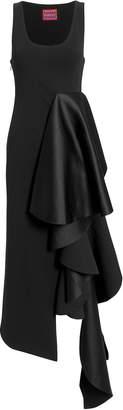 Solace Naya Ruffle Black Dress