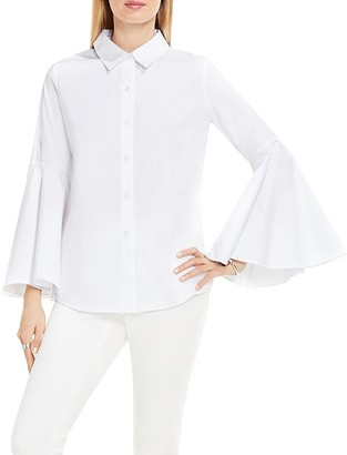 VINCE CAMUTO Bell Sleeve Button Down Blouse $89 thestylecure.com