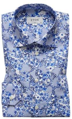 Eton Slim Fit Floral Dress Shirt