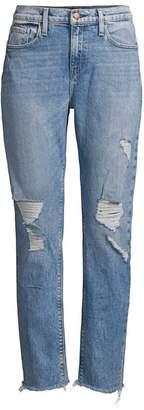 Hudson Jeans Jessi Distressed Cropped Boyfriend Jeans