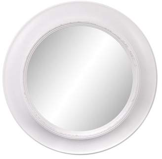 Patton Wall Decor 24 Inch Rustic Round Mirror in Distressed Taupe