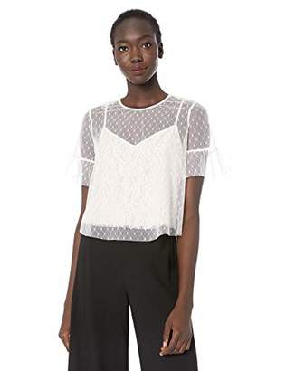 LIKELY Women's Reena Mixed lace Short Sleeve top