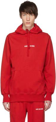 Leon Aime Dore Red Kanga Logo Hoodie