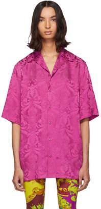 Versace Pink Silk Damask Shirt