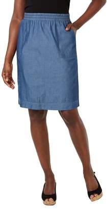 Karen Scott Petite Classic Cotton Skirt